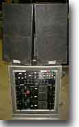 Picture of rack and speakers